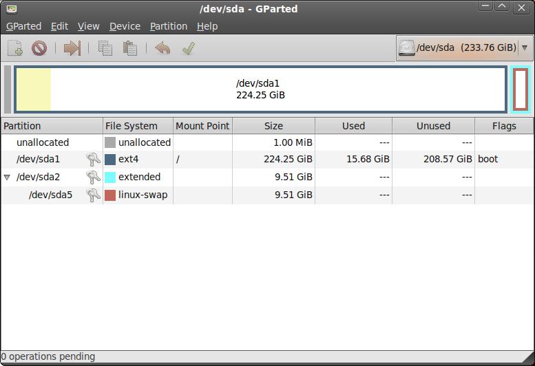 Screenshot--dev-sda - GParted